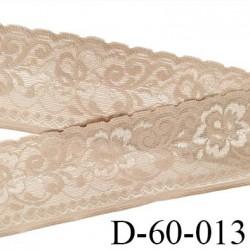dentelle peau 60 mm lycra élastique avec anti glisse fabriqué en France pour une grande marque souple prix au mètre