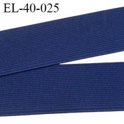 Elastique 40 mm plat très  belle qualité couleur bleu bonne élasticité fabriqué en France prix au mètre