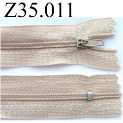 fermeture éclair longueur 35 cm couleur beige non séparable zip nylon largeur 2.5 cm