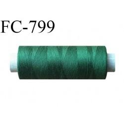 Bobine 500 m fil Polyester n° 120  vert 500 mètres fil européen bobiné en Europe ou France certifié oeko tex