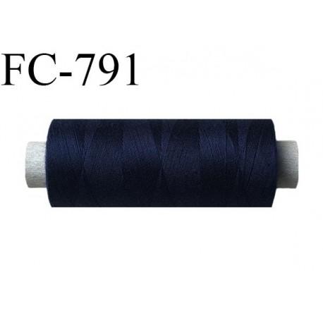 Bobine 500 m fil Polyester n° 120  couleur bleu marine 500 mètres fil européen bobiné en Europe ou France certifié oeko tex