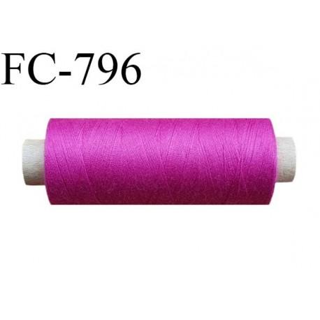 Bobine 500 m fil Polyester n° 120  fushia 500 mètres fil européen bobiné en Europe ou France certifié oeko tex
