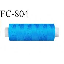 Bobine 500 m fil Polyester n° 120  bleu lumineux 500 mètres fil européen bobiné en Europe ou France certifié oeko tex