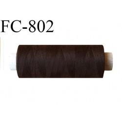 Bobine 500 m fil Polyester n° 120  marron foncé 500 mètres fil européen bobiné en Europe ou France certifié oeko tex