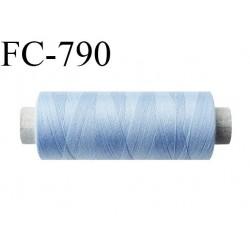 Bobine 500 m fil Polyester n° 120  bleu clair 500 mètres fil européen bobiné en Europe ou France certifié oeko tex