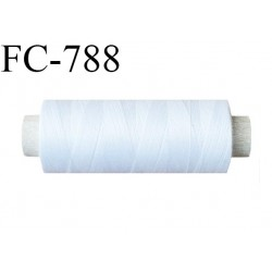 Bobine 500 m fil Polyester n° 120 couleur blanc  longueur 500 mètres fil européen bobiné en France