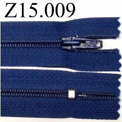 fermeture éclair longueur 13 cm couleur bleu  non séparable zip nylon largeur 2.5 cm
