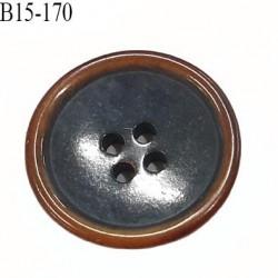 bouton 15 mm  pvc très haut de gamme couleur anthracite et couleur bois en bordure 4 trous diamètre 15 millimètres