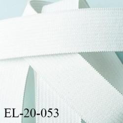 élastique 20 mm plat  tissé renforcé couleur blanc  souple forte élasticité superbe fabriqué en France prix au mètre