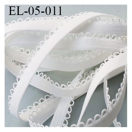 Elastique 5 mm lingerie picot couleur naturel  largeur de la bande 5 mm+ 3 mm de picot largeur total 8 mm  prix au mètre