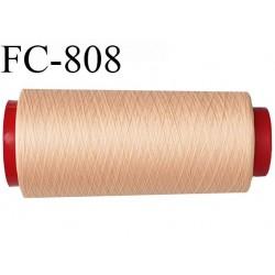 Cone de 1000 m fil mousse polyamide n° 120 couleur rosé chair longueur de 1000 mètres bobiné en France