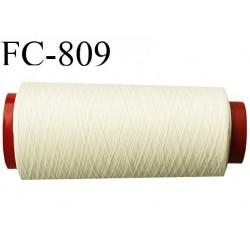 Cone de 1000 m fil mousse polyamide n° 120 couleur écru longueur de 1000 mètres bobiné en France