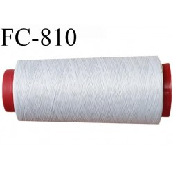 Cone de 1000 m fil mousse polyamide n° 120 couleur gris clair longueur de 1000 mètres bobiné en France