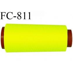 Cone de 2000 m fil mousse polyamide n° 120 couleur jaune fluo longueur de 2000 mètres bobiné en France