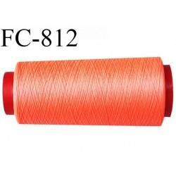 Cone de 2000 m fil mousse polyamide n° 120 couleur orange fluo longueur de 2000 mètres bobiné en France