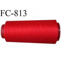 Cone de 1000 m fil mousse polyamide n° 120 couleur rouge longueur de 1000 mètres bobiné en France