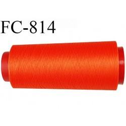 Cone de 1000 m fil mousse polyamide n° 120 couleur orange tirant sur le rouille longueur de 1000 mètres bobiné en France
