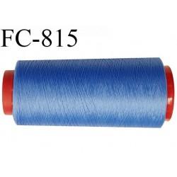 Cone de 2000 m fil mousse polyamide n° 120 couleur orange bleu longueur de 2000 mètres bobiné en France