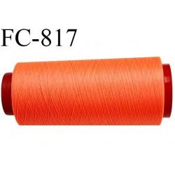 Cone de 1000 m fil mousse polyamide n° 120 couleur orange fluo longueur de 1000 mètres bobiné en France