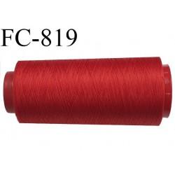 Cone de 5000 m fil mousse polyamide n° 120 couleur rouge longueur de 5000 mètres bobiné en France
