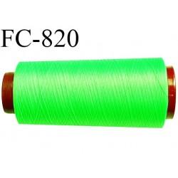 Cone de 2000 m fil mousse polyamide n° 120 couleur vert fluo longueur de 2000 mètres bobiné en France