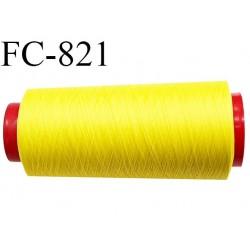 Cone de 2000 m fil mousse polyamide n° 120 couleur jaune citron longueur de 2000 mètres bobiné en France