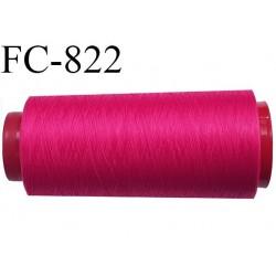 Cone de 1000 m fil mousse polyamide n° 120 couleur fushia longueur de 1000 mètres bobiné en France