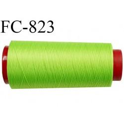 Cone de 1000 m fil mousse polyamide n° 120 couleur vert anis longueur de 1000 mètres bobiné en France