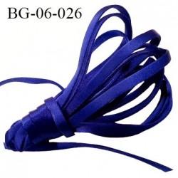 ruban galon devant bretelle 6 mm pour sg ou lingerie couleur bleu lazuli satin attache pour les anneaux  prix au mètre