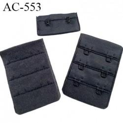 Agrafe attache 38 mm de sg 3 rangés 2 crochets largeur 38 mm hauteur 55 mm couleur gris foncé fabriqué en Europe