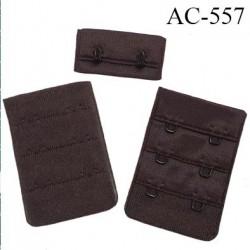 Agrafe attache 38 mm de sg 3 rangés 2 crochets largeur 38 mm hauteur 55 mm couleur marron foncé fabriqué en Europe