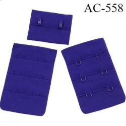 Agrafe attache 38 mm de sg 3 rangés 2 crochets largeur 38 mm hauteur 55 mm couleur bleu céleste fabriqué en France