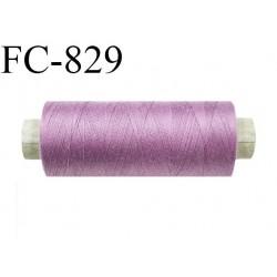 Bobine 500 m fil Polyester n° 120  lilas 500 mètres fil européen bobiné en Europe ou France certifié oeko tex