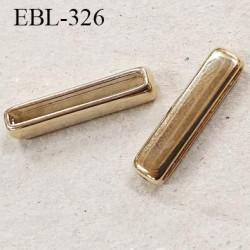 barrette réglette en métal longueur intérieur 25 mm largeur 6.5 mm couleur or fabriqué pour une très grande marque