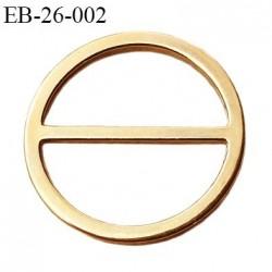 Boucle anneau étrier 22 mm intérieur anneau rond fermé métal couleur or bronze diamètre extérieur 2.6 cm intérieur 2.2 cm