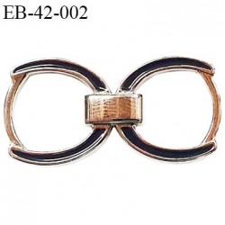 Boucle étrier réglette métal chromé superbe pour lingerie au autre largeur extérieur 4.2 cm  hauteur 22 mm  intérieur 16 mm