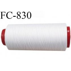 Cone de 5000 m fil mousse polyamide n° 120 couleur blanc longueur de 5000 mètres bobiné en France