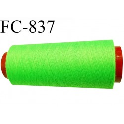 CONE 1000 m fil Polyester n° 120 vert fluo longueur 1000 mètres fil européen bobiné en France certifié oeko tex
