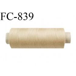 Bobine 500 m fil Polyester n° 120  beige 500 mètres fil européen bobiné en Europe ou France certifié oeko tex