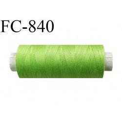 Bobine 500 m fil Polyester n° 120  vert pistache 500 mètres fil européen bobiné en Europe ou France certifié oeko tex