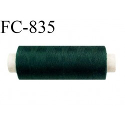 Bobine 500 m fil Polyester n° 120  vert bouteille 500 mètres fil européen bobiné en Europe ou France certifié oeko tex