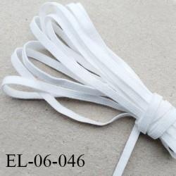Elastique 6 mm spécial lingerie et autres Eco Tex lavable 60° couleur naturel fabriqué en Europe prix au mètre