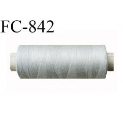 Bobine 500 m fil Polyester n° 120  gris clair 500 mètres fil européen bobiné en Europe ou France certifié oeko tex