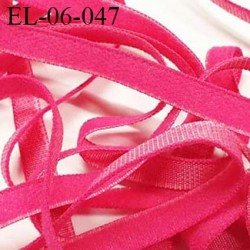 Elastique lingerie 6 mm fin couleur fushia spécial lingerie polyamide élasthanne fabriqué en France  6  mm prix au mètre