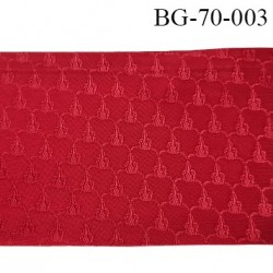 biais galon ruban satin provient d'une très grande marque couleur rouge brillant et motifs superbe largeur 70 mm prix au mètres