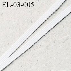 élastique couture 3 mm couleur naturel souple bonne élasticité largeur 3 mm Fabriqué en France prix au mètre