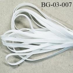 galon ruban lien plat largeur 3.5 mm couleur blanc très solide Fabriqué en France grande marque de lingerie prix au mètre