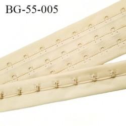 Bande Agrafe de 55 mm de hauteur et 3 rangés pour soutien gorge couleur chair clair fabriqué en France prix au mètre