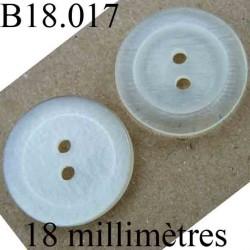 bouton 18 mm couleur argenté brillant marbré 2 trous diamètre 18 mm