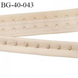 Bande Agrafe de 43 mm de hauteur et 2 rangés pour soutien gorge couleur chair clair fabriqué en France prix au mètre